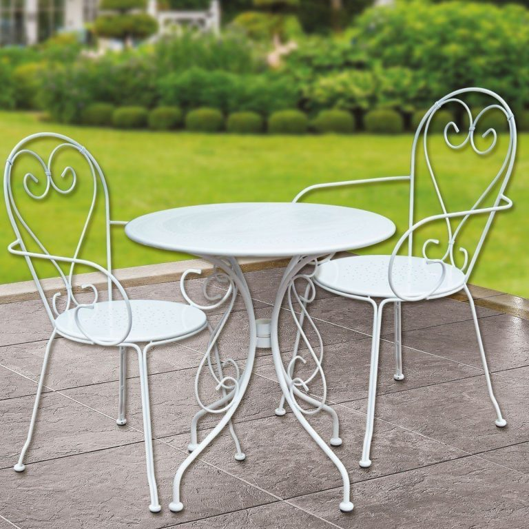 Bidesenal Ferforje Masa Sandalye Ve Bank Takımı 4 Parça Mutfak Seti Bahçe Balkon Sandalye Masa Seti 4 Kişilik