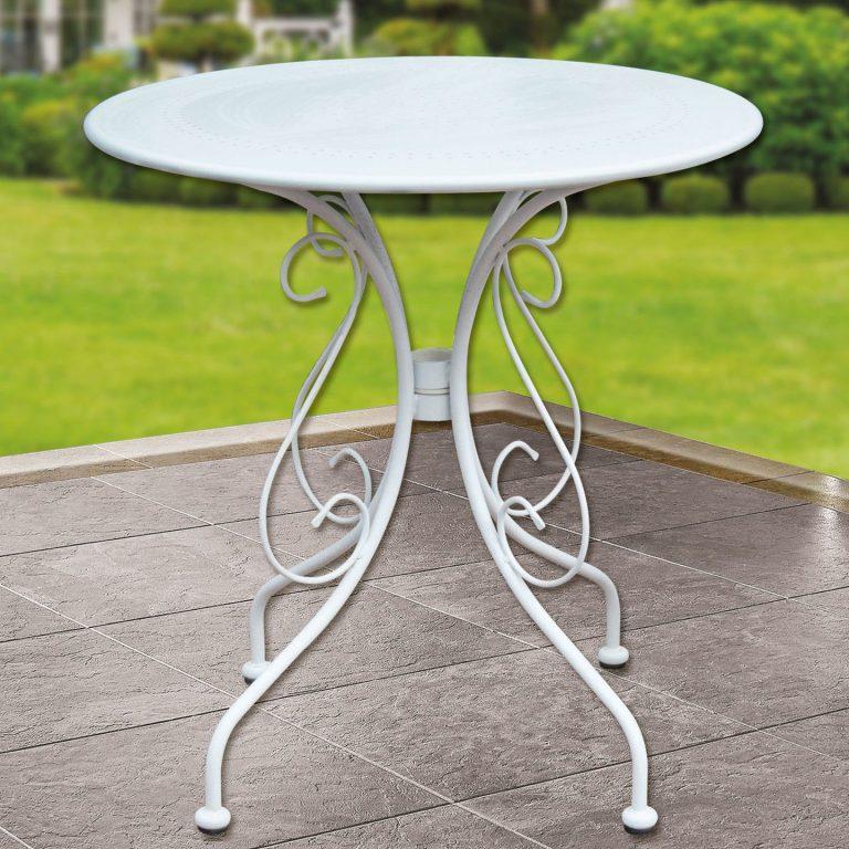 Bidesenal Ferforje Masa Beyaz Bahçe Ve Balkon Masası