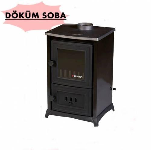 Süsler Mini Şömine Soba Ss-5032 Kömür Odun Sobası Şömineli