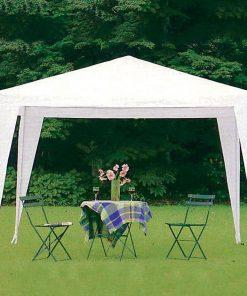 Bidesenal Çardak Bahçe Çardağı Gölgelik Tente 3x3 Metre Gazebo Parti Çadırı Extra Kalın Örtü - 3 X 3 Mt