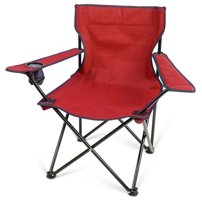 Kamp Sandalyesi Katlanır 55*50*78 Ölçülerinde 120 Kg Kapasiteli İthal Ürün Kırmızı Renk