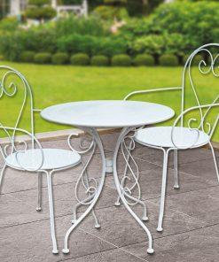 Bidesenal Ferforje Masa Sandalye Takımı 3 Parça Mutfak Ve Balkon Seti
