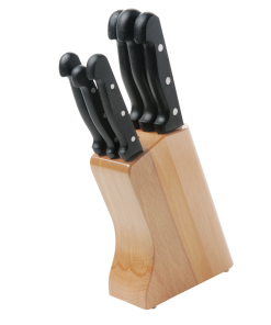 Pirge Superior Bloklu Bıçak Seti - 7 Parça 6+1 Masterchef Bıçak Seti