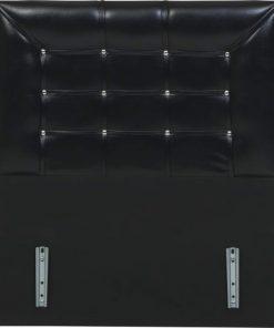 Bidesenal Tek Kişilik Baza Başlığı 90 Cm Deri Baza Başlık Siyah Kızak Sistemli Kapitoneli Karyola Başlığı