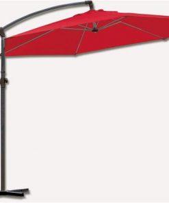Bidesenal Bahçe Şemsiyesi 3 Metrelik Ampul Şemsiye Gölgelik Tente Kırmızı Renk