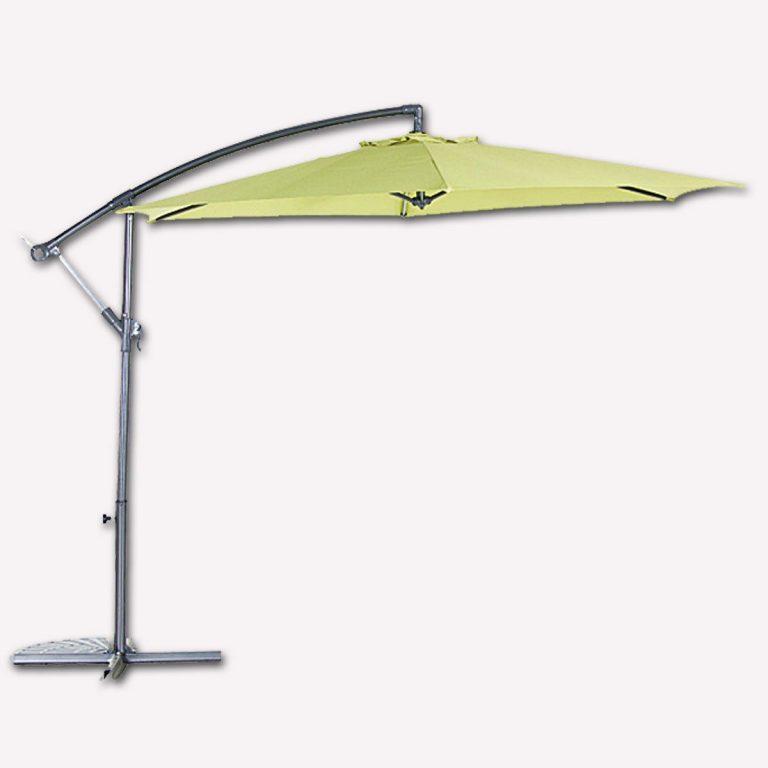 Bidesenal Bahçe Şemsiye 3 Metrelik Ampul Şemsiye Gölgelik Tente Yeşil Renkli