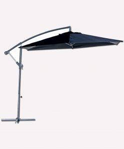 Bidesenal Bahçe Şemsiyesi Ampul Şemsiye Balkon Şemsiye 3 Mt Antrasit Renk Makaralı Katlanır Gölgelik