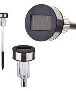 10 Adet Güneş Enerjili Bahçe Aydınlatması Solar Saplama Solar Lamba 35 Cm