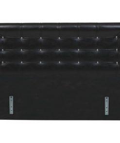 Bidesenal Çift Kişilik Başlık Baza Başlığı 150 Cm Kızaklı Siyah Renk