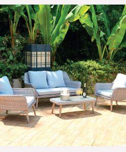 Bidesenal Rattan Bahçe Balkon Koltuk Takımı Sehpalı Bahçe Oturma Grubu Seti Örme Hasır Rattan