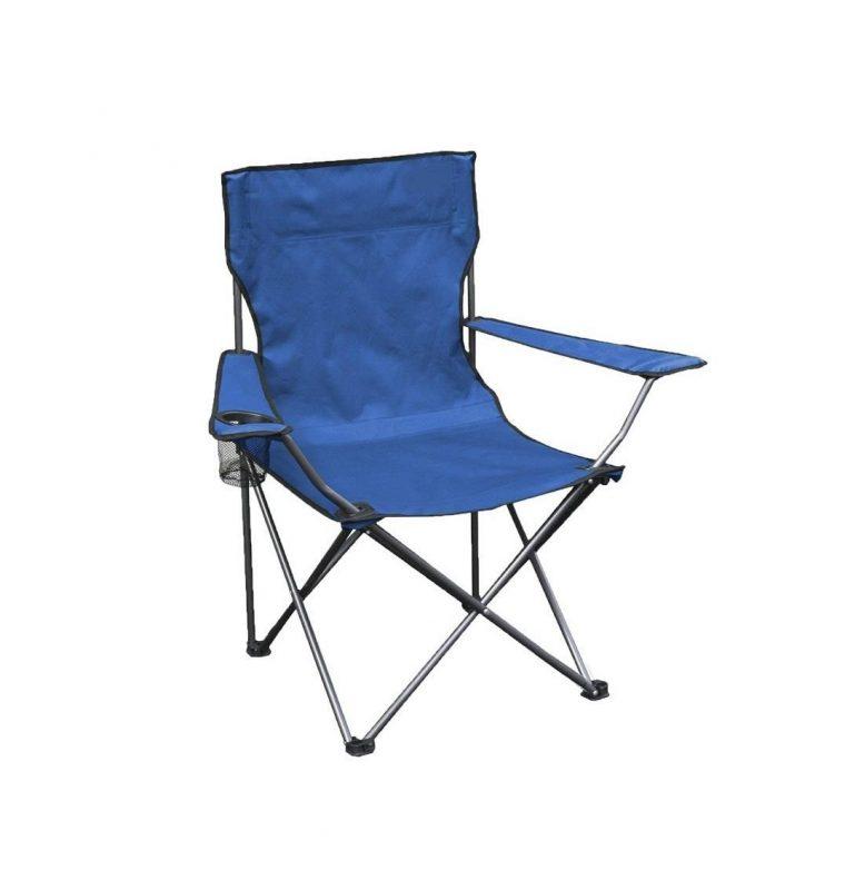 Kamp Sandalyesi 50*50*80 Ölçülerinde 120 Kg Kapasiteli Mavi