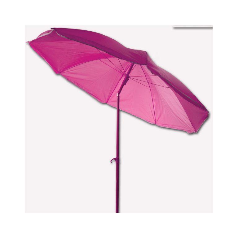 Bidesenal Bahçe Şemsiye 180 cm Fuşya Renkli